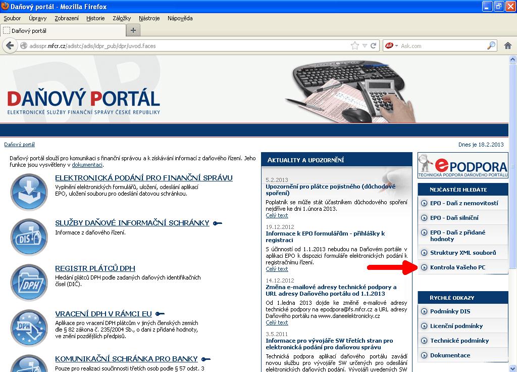 Daňový portál