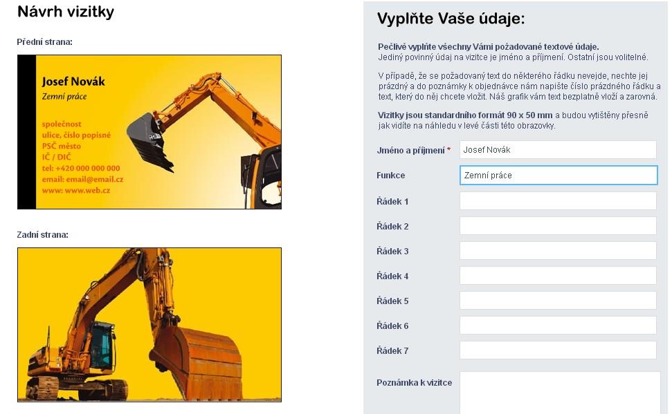 Návrh vizitky online - TISKNISI.cz